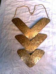Royal Artisans Brass Hasli Necklace