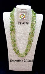 CL Jewellery Tourmaline Semi Precious Stone Customised Handmade Artificial Jewellery Necklace Set