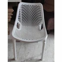 Without Arm White Plastic Chair
