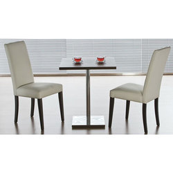 Wooden Gl Two Seater Stainless Steel Dining Table Shape Rectanguler