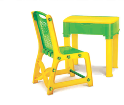 Green And Yellow Kids Plastic Study Set