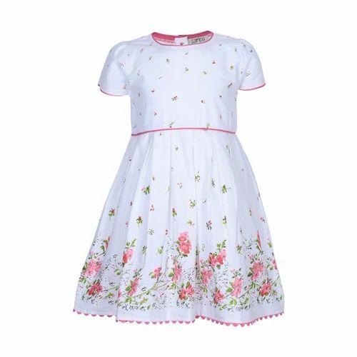 White Kids Dress Sambu Baby Girl s Midi Knee Length Casual Dress ... e870a09820c2