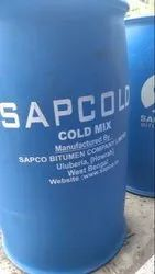 Sapcold Liquid 40/50 Cold Mix Bitumen Emulsion, For Road Construction, Packaging Type: Hdpe Drum