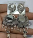 Silver Mirror Fancy Earrings