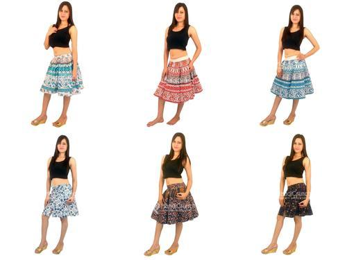 828c2e6797dd1d Cotton Multicolor Designer Multi Color Floral Print Skirts For Girls ...