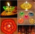 Hard Plastic Round Diwali Decorative Diyas