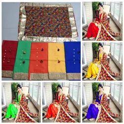 Unstitched Cotton Punjabi Patiala Suit