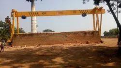 Double Hoist Single Beam Gantry Crane Span 100ft