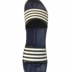 Daily wear Blue Women Slides Flip Flops Slippers, Size: 36-43
