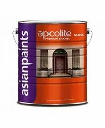 High Gloss Oil Based Paint Golden Brown 4 Litre Asian Pains Apcolite Premium Enamel, For Metal&Wood, Packaging Type: Can