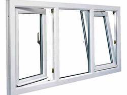 Tilt and Turn White LG Hausys UPVC Combination Window, For Home, Thickness Of Glass: 5mm
