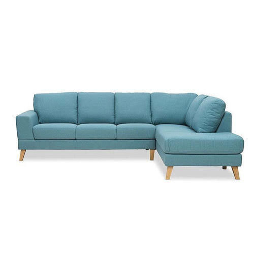 L Shape Fabric Sofa With Extra Cushion Comfort