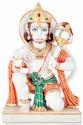 Pashan Kala White Marble Hanuman Sitting Statue, For Worship, Size: 12 To 66 Inch