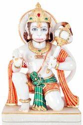 Marble Hanuman Sitting Statue