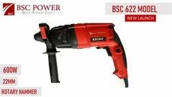 Bsc Power 22mm Rotary Hammer, Model Name/Number: 622, 600 Watts