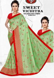 Embroidered Saree, 6 m (with blouse piece)