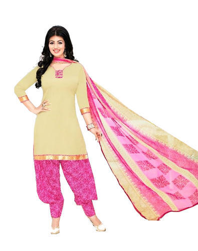 4f5be88dd7 Plain, Printed Cotton Patiyala Salwar Suit Material, Rs 510 /pack ...
