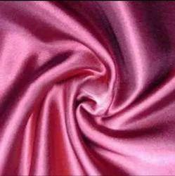 Plain Red Lycra Satin Fabric