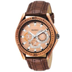 Frosino FRAC061802 Analog Bronze Dial Watch