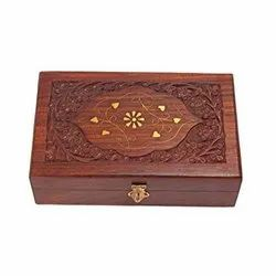 Rectangle Polished Decorative Wooden Box, Dimension: 4 X 6 Inches