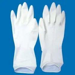 Saichemist 280 mm Latex Examination Hand Gloves, Size: 7 inches