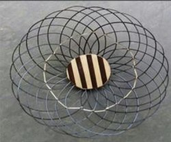 Brown Round Bamboo Small Basket