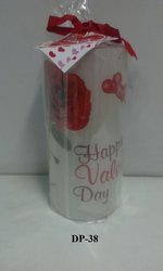 DP-38 Valentine Pillar (Big) Candle ( 1 PC / PKT)