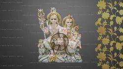 Marble Marble Shiv Parvati Ganesh Kartikey Statue