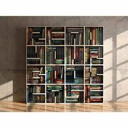 Book Shelf Modular Wooden Bookcase, For Home