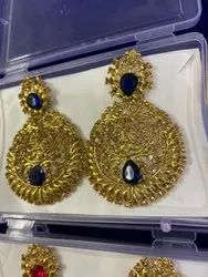 Fancy Indian Stone Earrings