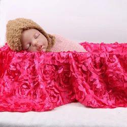 Babymoon 3D Rose Floral Beanbag Blanket Backdrop Rug - Beautiful Photoshoot Baby Photography Prop