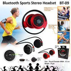 Black Wireless Bluetooth Sports Stereo Headset BT-09