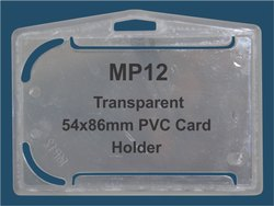 MP12 Transparent PVC ID Card Holder