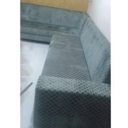 Grey Wooden L Type Corner Sofa