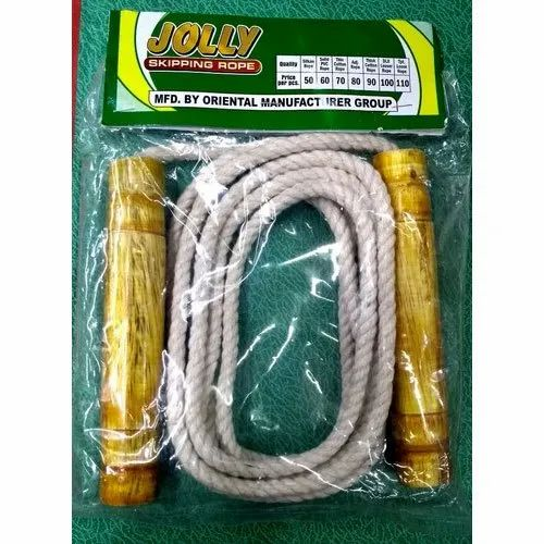 White Thick Cotton Skipping Rope