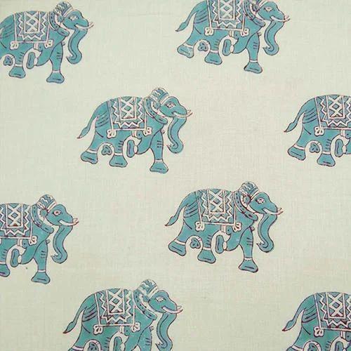 98761913a76c Elephant Hand Block Printed Fabric