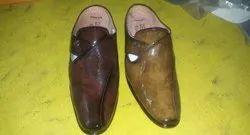 Leather Black Men's Formal Shoes, Size: 6x9