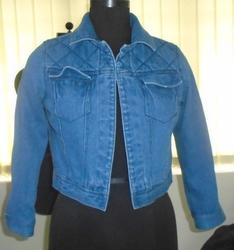 Crop Denim Jacket - Women