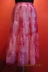 Cotton Tie Dye Ladies Skirt