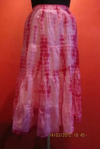 Cotton Tie Dye Ladies Skirt