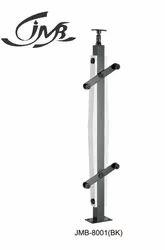 Stainless Steel Glass Railing Black Finish Baluster