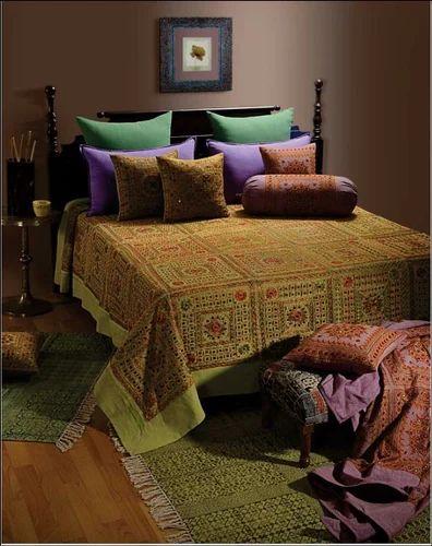 Chulbuli Thread and Mirror Work Cushion Cover