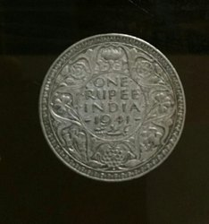 Silver Old One Ruppe Coins1941