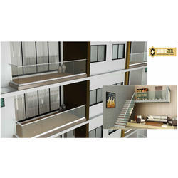 Iris Aluminum Glass Railing