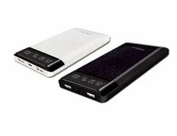 Slim 10000 mAh Power Bank with Digital Display