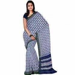 Multicolor 5.5m Ikkat Cotton Saree