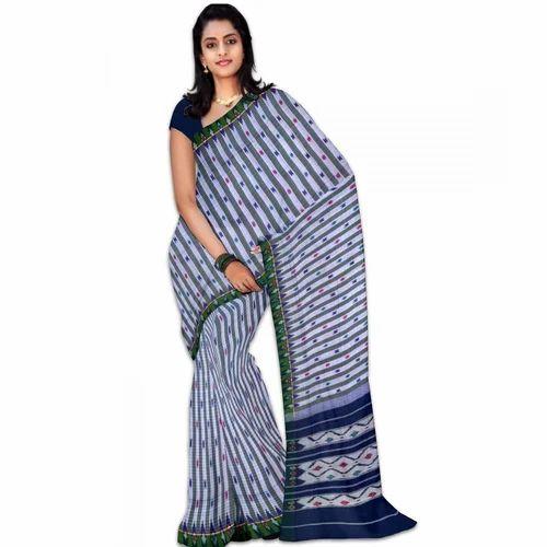 639e2b29c1ff0d Multicolor 5.5m Ikkat Cotton Saree