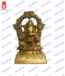 Lord Ganesha Sitting With Ring