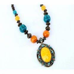 Regular Wear Fancy Bead Necklace, Packaging Type: Box