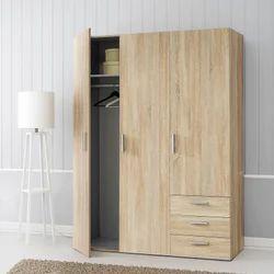Wood 3 Door Wardrobe